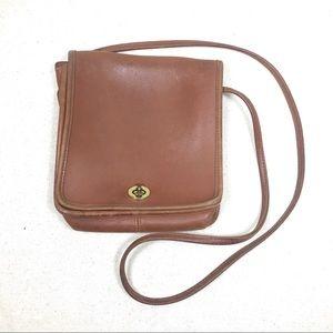 Coach Brown Compact Pouch Messenger Bag 9620 USA